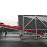 Trémie 45 m3 avec extracteur à bande